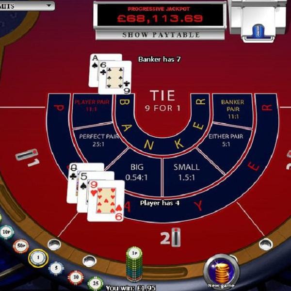 Progressive Baccarat at William Hill Casino Offers $88K