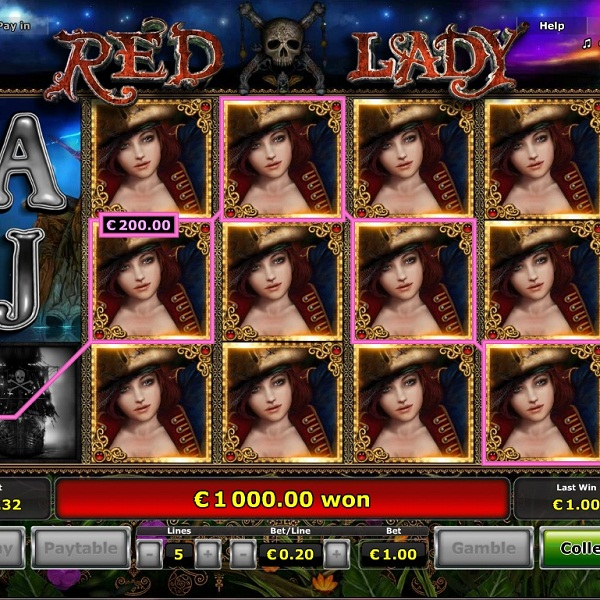 Explore the Seven Seas with Novomatic's Red Lady Slot