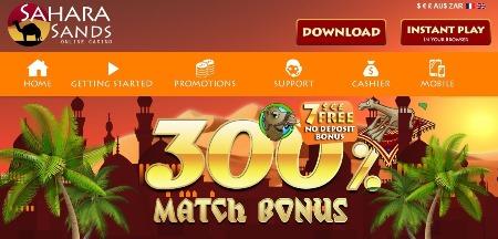 Sahara Sands Online Casino Now Open