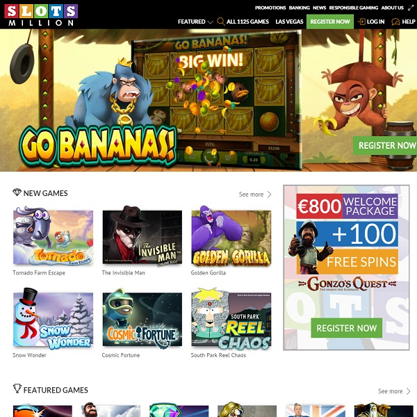 Slots Million Casino Launches With 1125 Online Slots