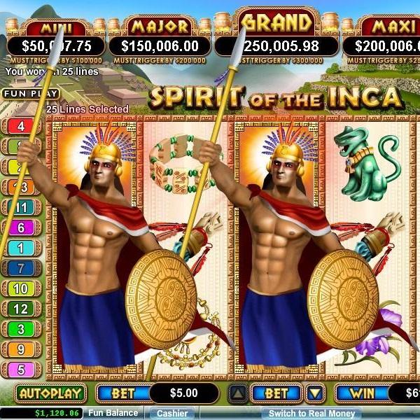 Vegas Casino Online Spirit of the Inca Grand Jackpot Approaches $285K