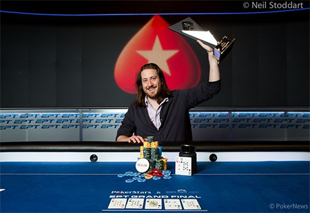 Steve O'Dwyer Wins PokerStars and Monte-Carlo Casino EPT Final