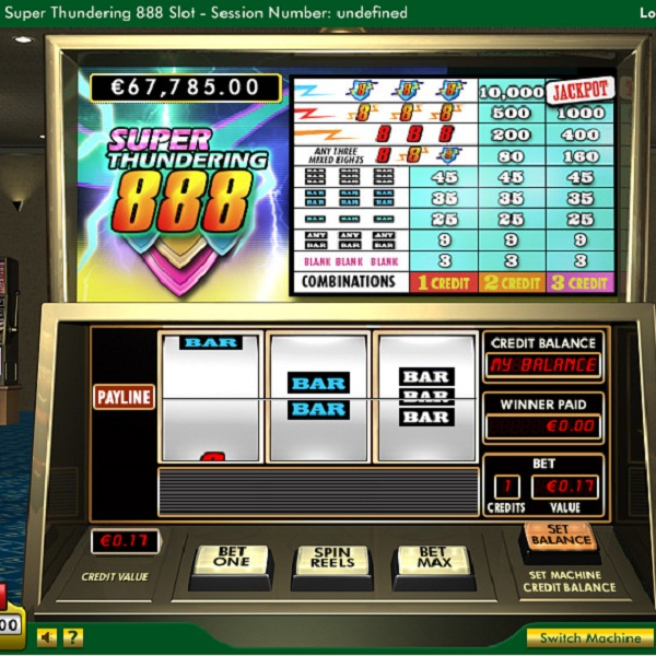 $17K Super Thundering 888 Jackpot Available at 888 Casino
