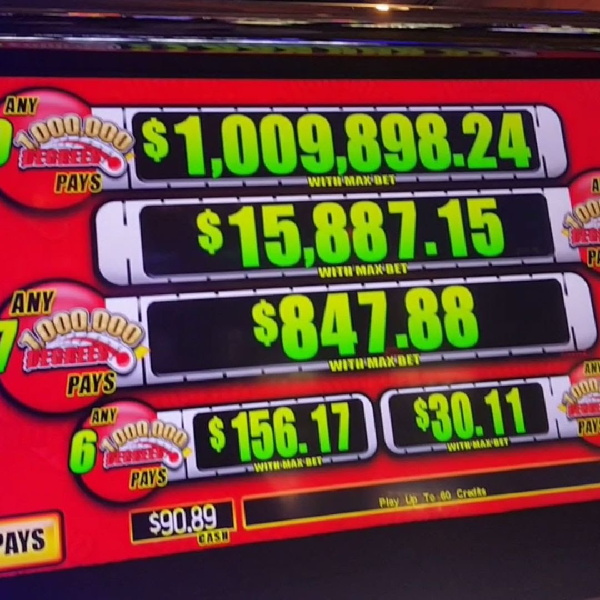Texas Gambler Hits $1.5 Million Progressive Slots Jackpot