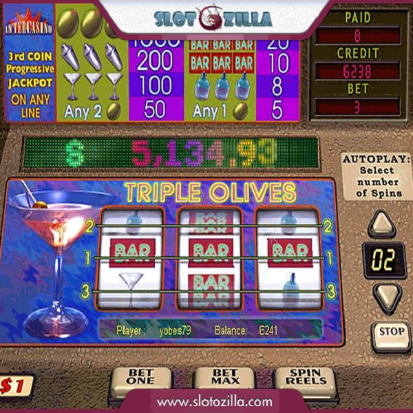 Triple Olives Video Slots at Maria Casino Offers $14K