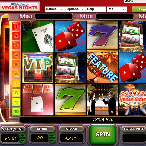 Vegas Nights Video Slots at Ladbrokes Casino Offers £45K