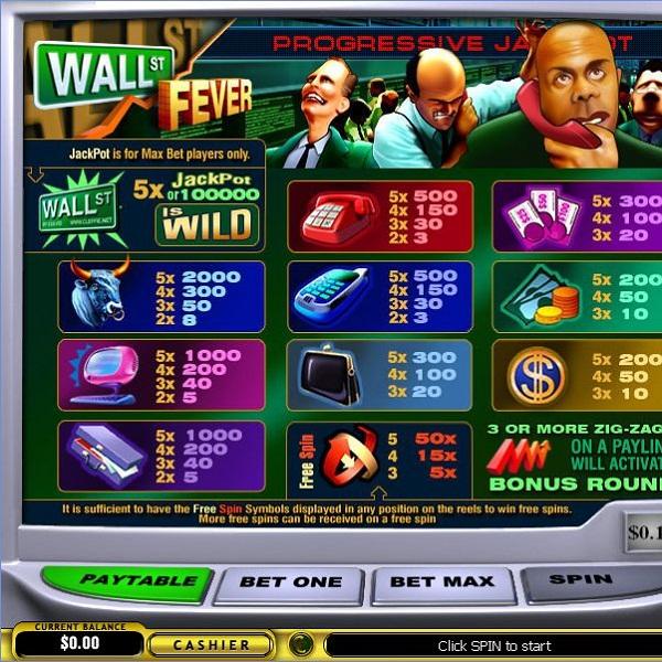Winner Casino Wall St Fever Video Slots Jackpot Exceeds $357K