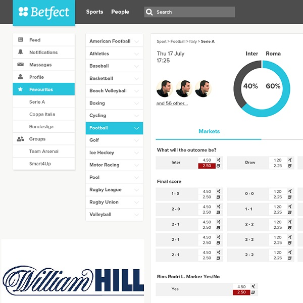William Hill Integrates With Betfect Social Betting Network
