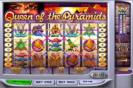 Queen of the Pyramids 25c Slot Scores Player $131K
