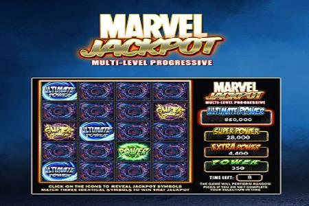 Marvel Super Power Jackpot Pays $43,587