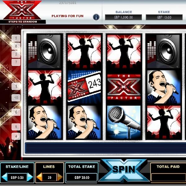 Betfair Casino's X-Factor Video Slot Offers £35K