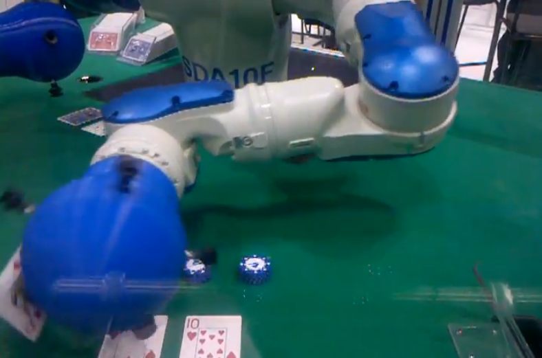 Yaskawa Motoman Develops Robotic Blackjack Dealer