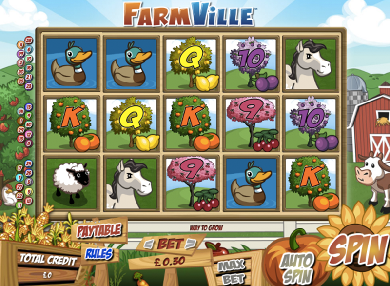 Zynga's Farmville is Now Available as a Real Money Slot Game
