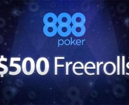 888Poker Giving Away $400k in Freerolls
