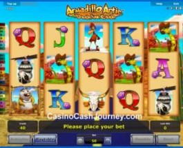 Armadillo Artie: Dash for Cash Slot released by Novomatic