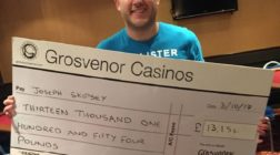 Poker Player Wins Grosvenor Casino's £13K Bad Beat Jackpot