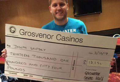 Poker Player Wins Grosvenor Casino's £13K Bad Beat Jackpot