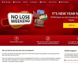 It's No Lose Weekend at Sky Vegas Casino