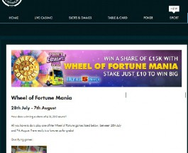 Win a Share of £15K in Wheel of Fortune Mania at Grosvenor Casino