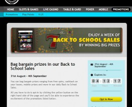 Grosvenor Casino Offers Back to School Promotion Prizes