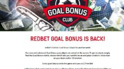 Win Free Bets in RedBet's Goal Bonus This Weekend