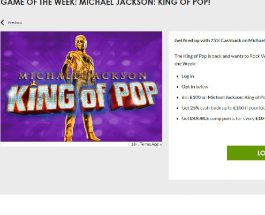 Enjoy 25% Cashback on Michael Jackson: King of Pop at Gala Casino