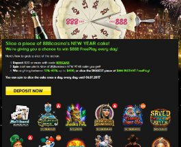 Spin 888's New Year's Cake for Instant Free Play