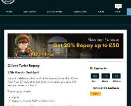 Get 20% Cashback at Grosvenor Casino Today