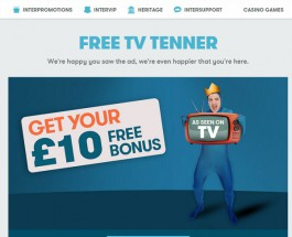 Join InterCasino Today for a Free £10 Bonus