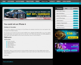 Win Cashback and an iPhone 6 at Grosvenor Casino