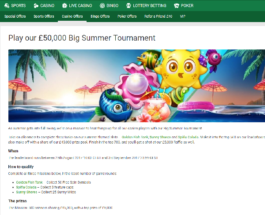 Final Chance to Win a Share of £50K in Unibet's Big Summer Tournament