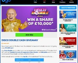 Win a Share of £10K in BGO Casino's Disco Double Cash Giveaway