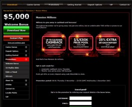 Win a Share of €2 Million in Mansion Millions Promotion