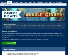 Enjoy Double Comp Points Playing Jungle Giants at Betfred Casino