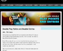 Enjoy Double Play Points and Prize Draw Entries at Grosvenor Casino
