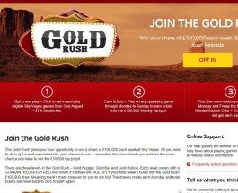 Win a Share of £100K in Sky Vegas Gold Rush Promotion