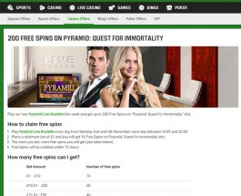 Receive up to 200 Free Spins at Unibet Casino this Week