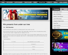 Win a Christmas Present at Grosvenor Casino