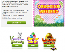 William Hill Vegas Easter Prizes Could Land You A Share of £20,000