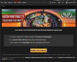 Win a Share of £10K Cash in NetBet Match Point Roulette Promo