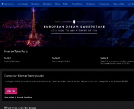 Win a Share of £5K in Sky Casino European Dream Sweepstake