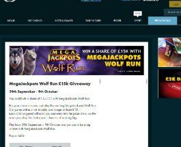 Win a Share of £15K Playing Mega Jackpots Wolf Run at Grosvenor Casino