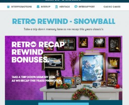 Enjoy Daily Bonuses at InterCasino in Retro Rewind Promotion