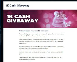 Win $1,000 Cash at Party Casino