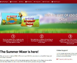 Win a Share of £50K Cash in Sky Vegas Summer Mixer Promo