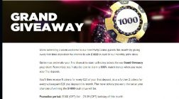 Win $1000 Cash at Party Casino