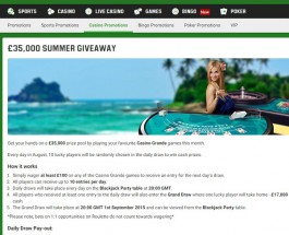 Unibet Casino Offers £35K in Prizes This Month