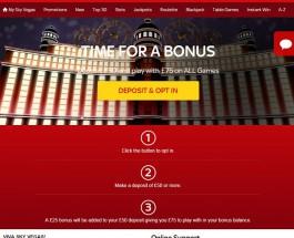 Receive a £25 Bonus at Sky Vegas This Week