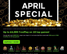 Up to £4K of April Free Play at 888 Casino