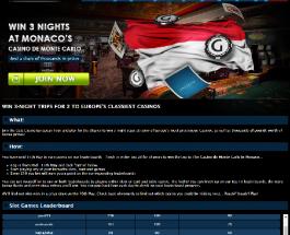Win a trip to The Casino de Monte Carlo at Gala Casino